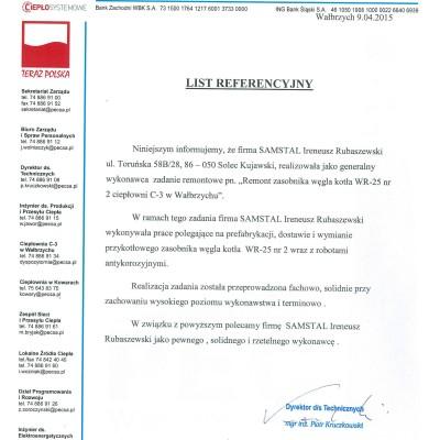 Referencje PEC Wałbrzych